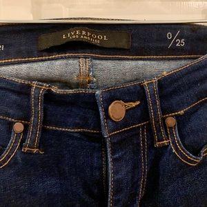 Liverpool dark wash crop jeans size 25